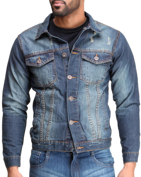 Basic Essentials - Men Dark Wash Evo Denim Jacket