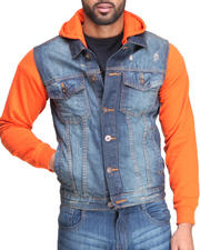 Basic Essentials - Denim Vest Hoodie Jacket