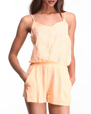 Women - Peach Romper