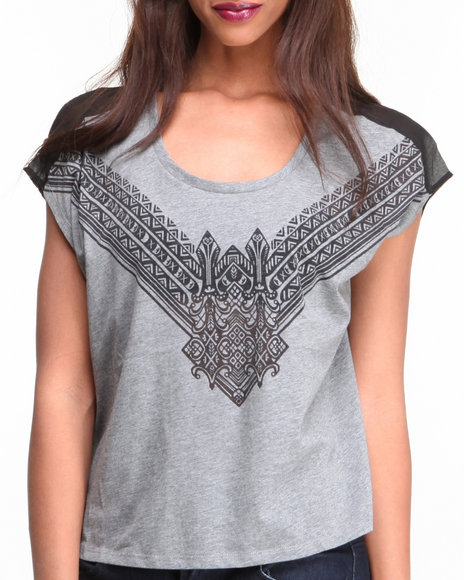 Djp Outlet Grey Tops