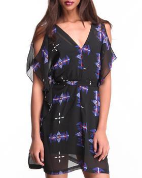 DJP OUTLET - Celeste Sioux Printed Open Shoulder Dress