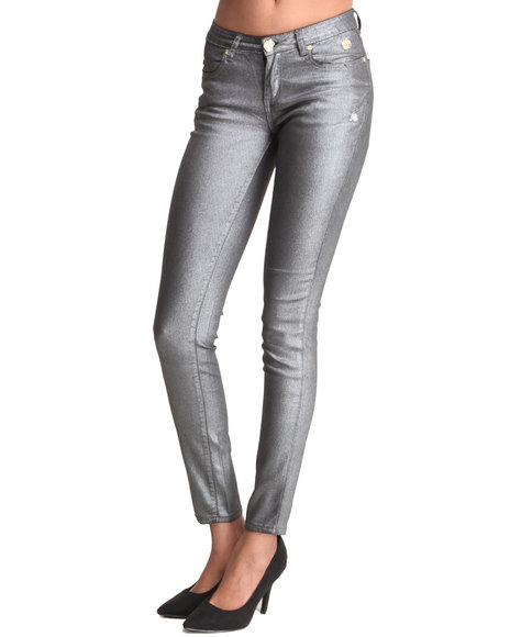Apple Bottoms - Women Charcoal Sparkle Glam Rush Pants - $17.99