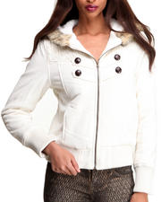 Women - Shawl Collar Puffer Jacket