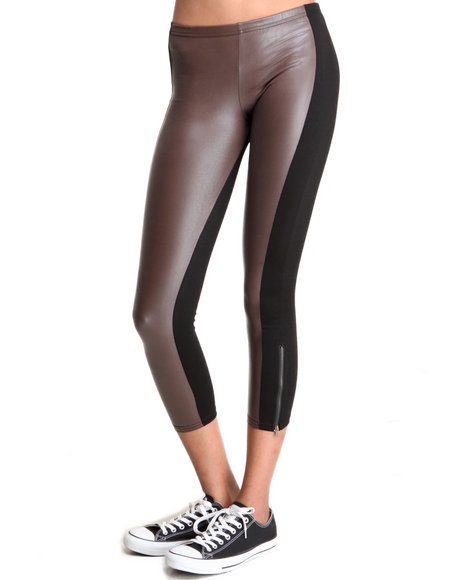Djp Outlet - Women Black,Brown Stripe Legging