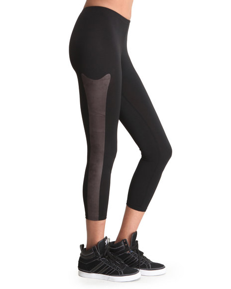 Djp Outlet - Women Black Panel Legging