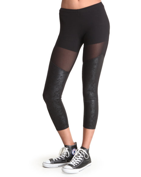 Djp Outlet - Women Black Sheer Legging