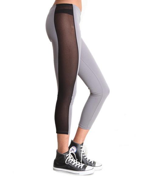 Djp Outlet - Women Black,Grey Stripe Legging