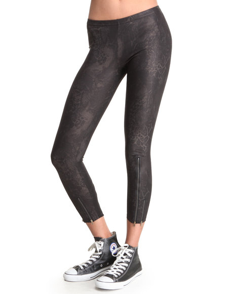 Djp Outlet - Women Gold Metallic Legging