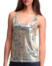 Tops - Iniko Sequin Crop Tank