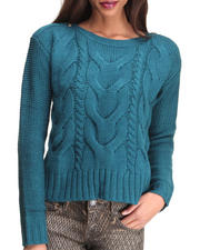 Women - David Cable Knit Sweater