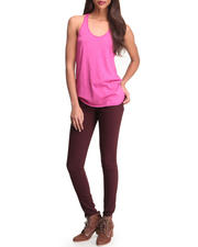 Women - Skinny Fit Sateen Pant with Tank