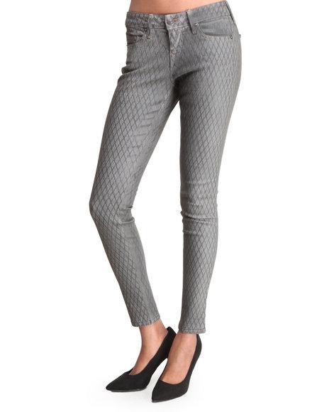 Djp Outlet - Women Grey Halle Mid-Rise Skinny Printed Legging