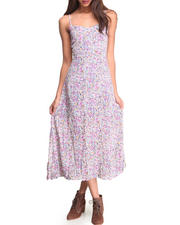 Women - Floral Mixed Print Dress