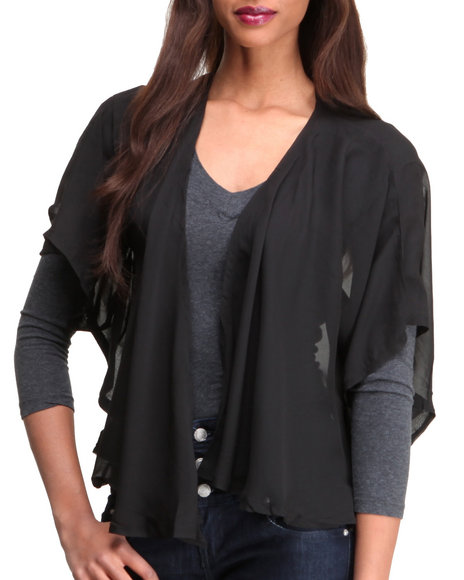 Djp Outlet Women Holloway Drap Cardigan Black - $27.99