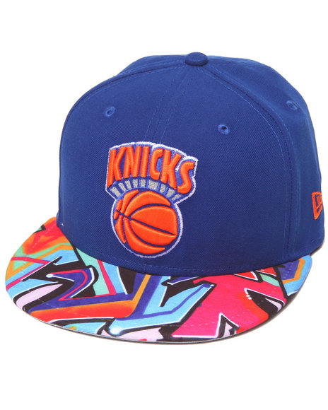New Era - Men Blue New York Knicks Real Graffiti 5950 Fitted Hat