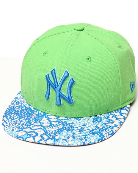 New Era - Men Green New York Yankees Ostrich Vize Snake 950 Strapback Hat