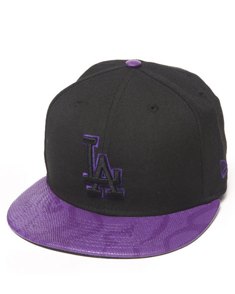 New Era Purple Los Angeles Dodgers Snakes-Thru Strapback Hat