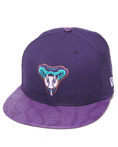New Era - Men Purple Arizona Diamondbacks Snake-Thru Strapback Hat