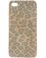 Women - Leopard Print Premium Leather Iphone Sticker