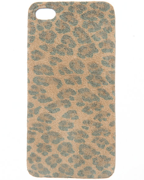 Djp Outlet Women Leopard Print Premium Leather Iphone Sticker Multi - $7.99