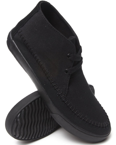 Buyers Picks - Men Black Generic Surplus Apache Canvas Boots