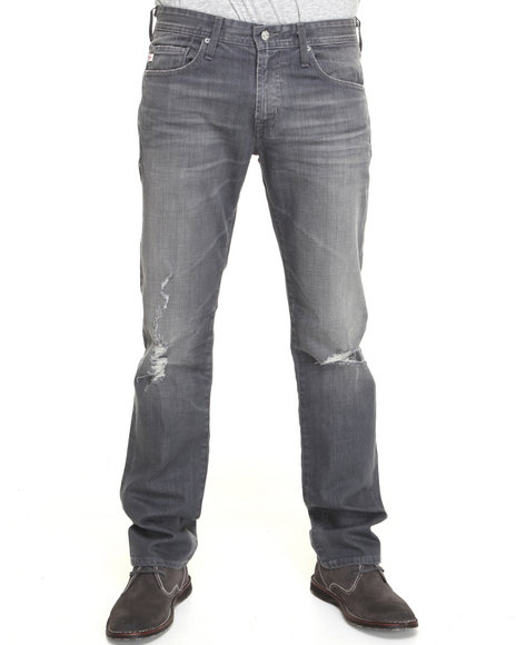 Djp Outlet - Men Vintage Wash Ag Adriano Goldschmied 6 Yr Destroyed Matchbox Slim Straight Jeans