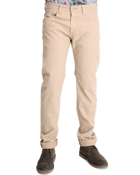Djp Outlet - Men Tan Ag Adriano Goldschmied Sahara Wave Dye Matchbox Slim Straight Jeans