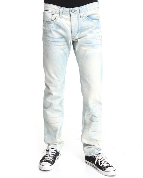 Djp Outlet - Men Light Wash Item! Riptide Wash Slim Fit Denim Jeans