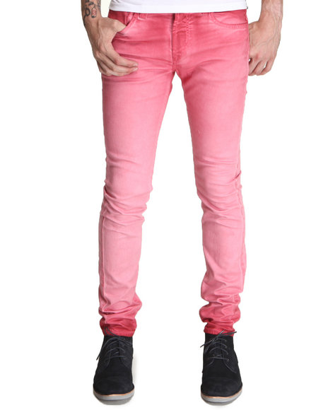 Djp Outlet - Men Red Item! Super Skinny Red Ombre Jean