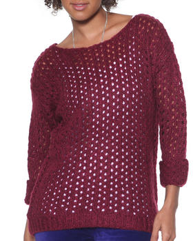DJP OUTLET - Marbeled Open Stitch Sweater