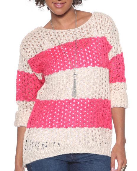 DJP OUTLET - Open Stitch Striped Sweater