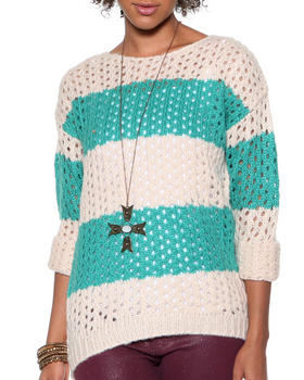 DJP OUTLET - Open Stitch Striped Sweater