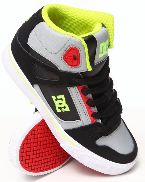 Dc Shoes - Boys Grey Spartan High Sneakers (1-7) - $45.99