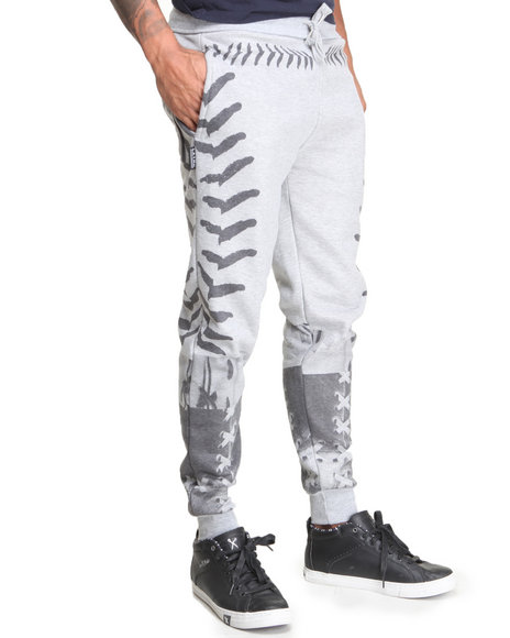 L.A.T.H.C. - Men Grey Laced Sweatpants