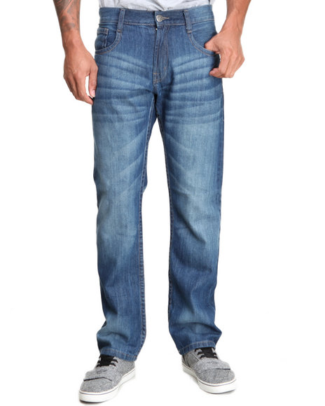 Buyers Picks - Men Medium Wash Trave Denim Jeans - $18.99
