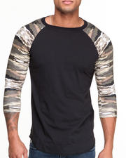 T-Shirts - Paint By Camo Raglan Tee