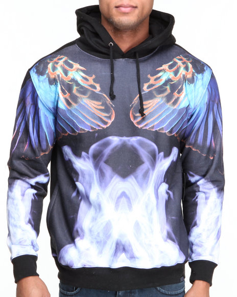 L.A.T.H.C. Multi Smoke N Feathers Hoodie