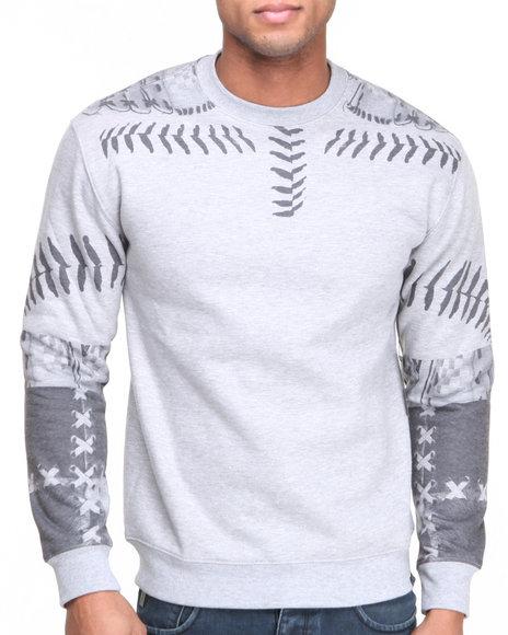 L.A.T.H.C. Grey Laced Sweatshirt