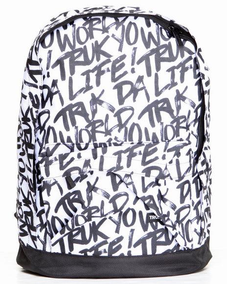 Trukfit Truk Yo Life Canvas Backpack White