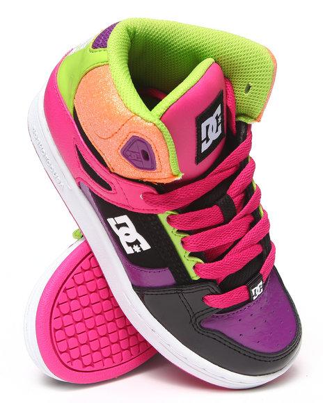 DC Shoes Girls Pink Rebound Sneaker (1-7)