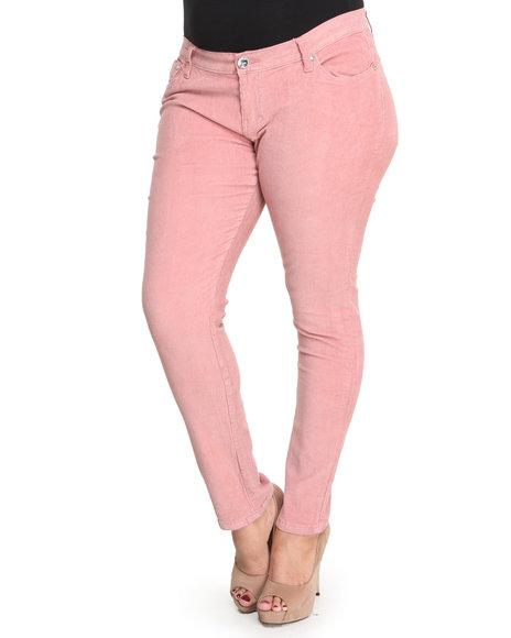Basic Essentials Light Pink Corduroy Pants (Plus Size)