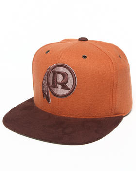 Mitchell & Ness - Washington Redskins NFL Throwbacks Brown Winter Suede Strapback Hat
