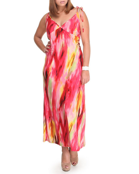 Fashion Lab - Women Pink Lets Tango Halter Dress (Plus)