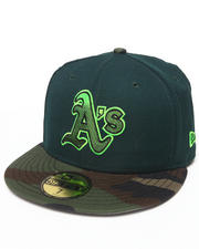 Men - Oakland A's Camo Greenz Edition 950 Fitted hat