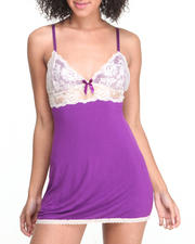 Women - Femme Fatale All-Over Lace Chemise