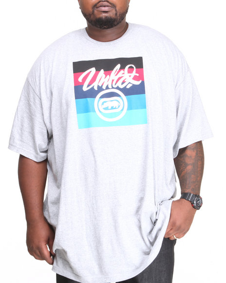 Ecko Grey Square Circle T-Shirt (Big & Tall)