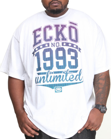 Ecko White Filler Time T-Shirt (Big & Tall)