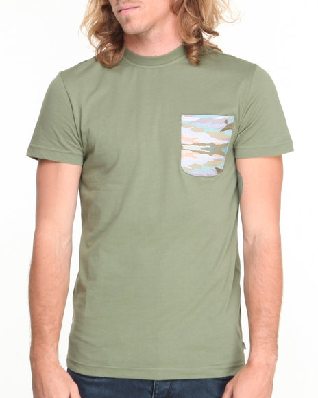 Altamont Olive Paint By Camo Pocket S/S Tee