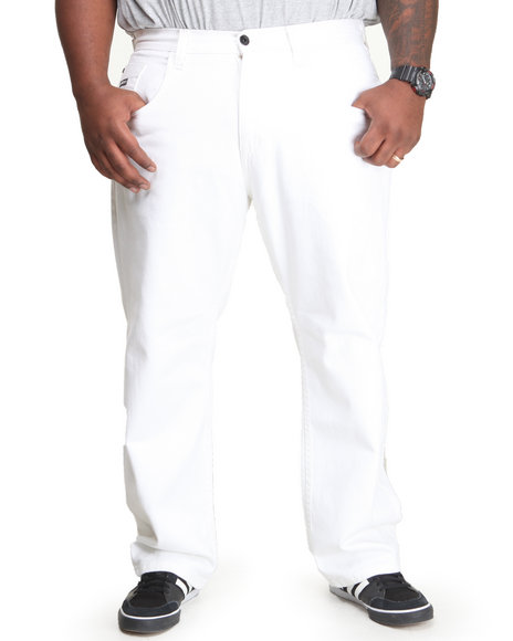 Enyce White New Traditional Colored Denim (Big & Tall)