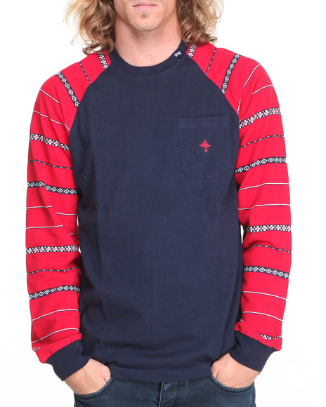 Lrg - Men Navy L - Natured L/S Raglan Tee